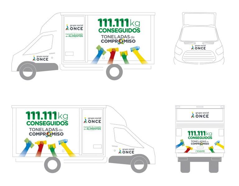 Acto de la primera entrega campaña 'Toneladas de Compromiso' al Banco de Aimentos, Madrid.