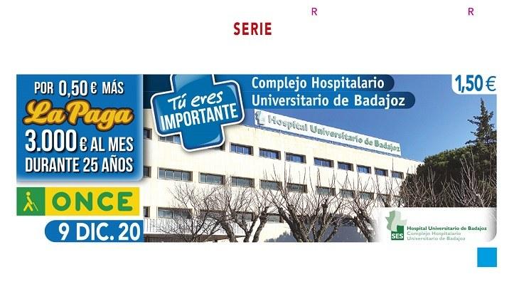 Presentación cupón de la ONCE dedicado al Hospital Universitario de Badajoz