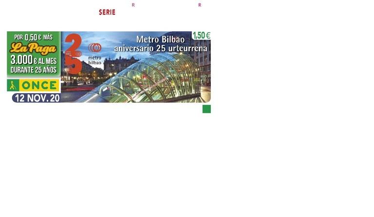 Presentación del cupón dedicado al 25º aniversario de Metro Bilbao