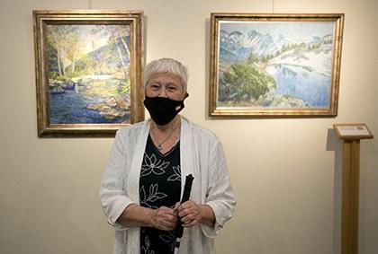 Exposición de la pintora con discapacidad visual Cristina Gutiérrez Lafuerza  en el Museo Tiflológico de la ONCE