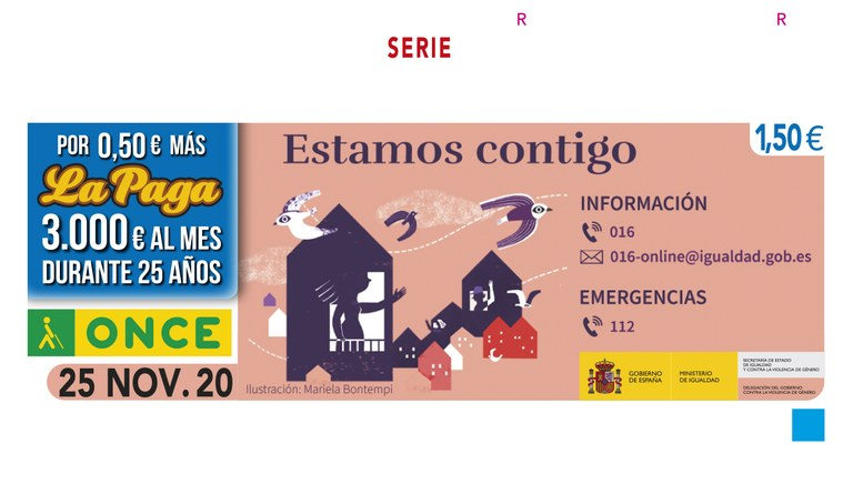 Presentación Cupón en La Rioja del Día Internacional de la Eliminación de la Violencia contra la Mujer