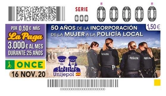 """Presentación del cupón de la ONCE  """"50 Aniversario incorporación de la mujer a la Policía Local"""""""