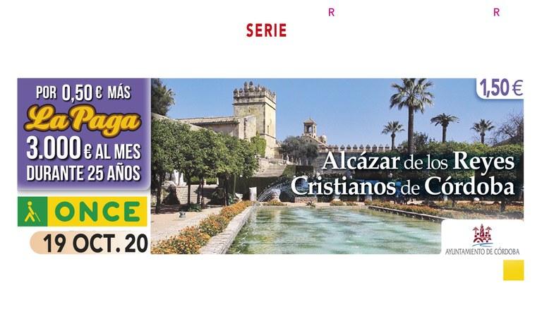 La ONCE presenta el cupón dedicado al Alcázar de los Reyes Cristianos de Córdoba