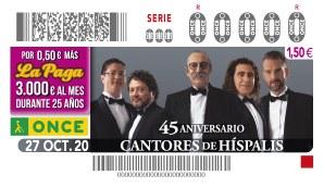 Presentación cupón dedicado al 45 Aniversario de los Cantores de Hispalis