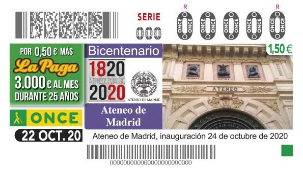 Presentación cupón dedicado al Bicentenario del Ateneo de Madrid