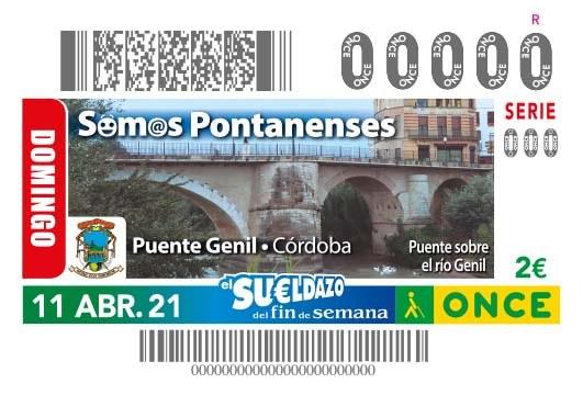 La ONCE presenta el cupón dedicado al gentilicio de Puente Genil - Córdoba