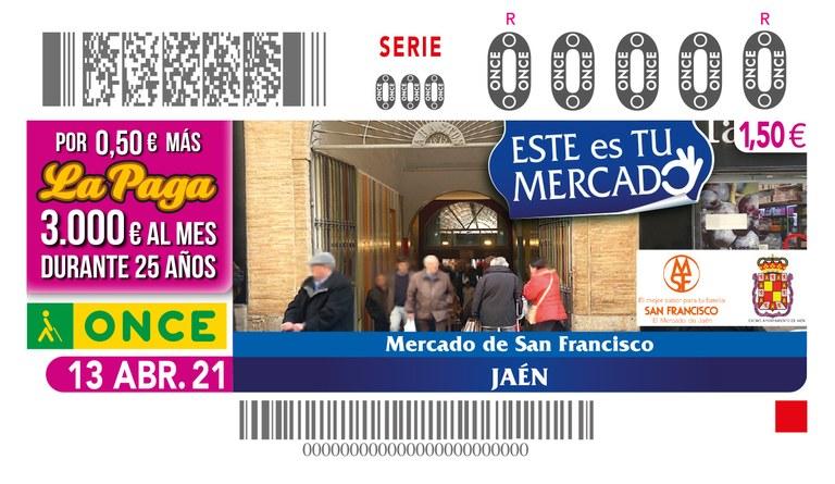 Presentación del cupón dedicado al Mercado de San Francisco, de Jaén