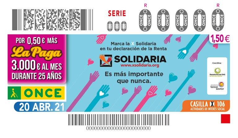 """Presentación de la Campaña """"X Solidaria"""" y del cupón con este motivo"""