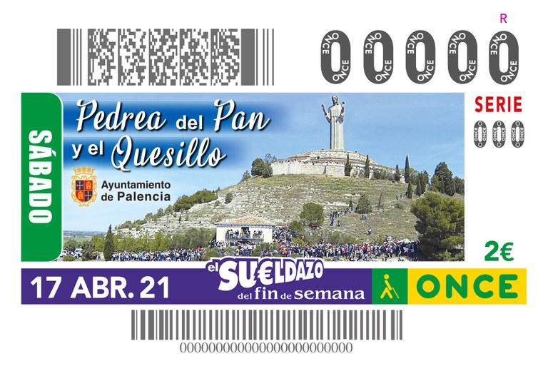 Presentación del cupón dedicado a la Pedra del Pan y el Quesillo en Palencia (sorteo 17 de abril)