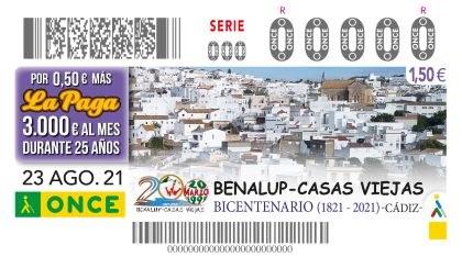 Presentación cupón ONCE dedicado al 200 aniversario de Benalup-Casas Viejas.