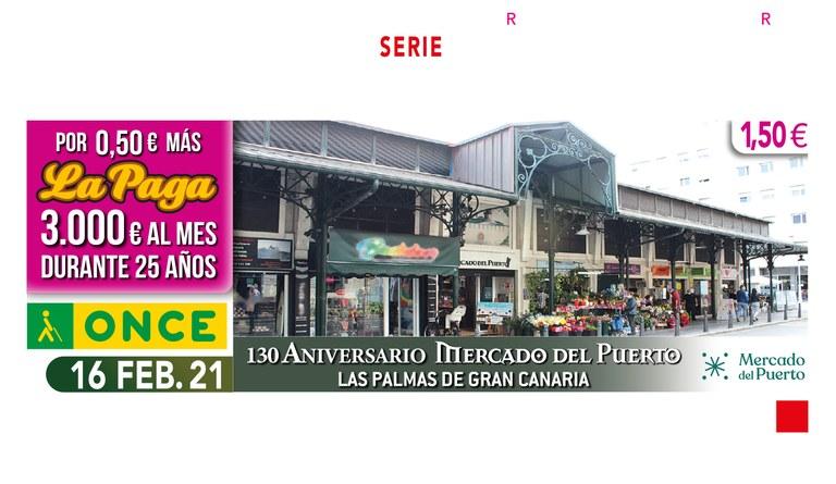 """Presentación del Cupón  de la ONCE """"130 Aniversario del Mercado del Puerto"""". Las Palmas de Gran Canaria"""