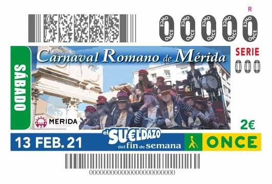 """Presentación del cupón de la ONCE dedicado al """"Carnaval Romano de Mérida"""""""