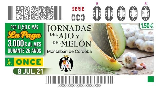 """Presentación cupón """"Jornadas del ajo y del melón de Montalbán - Córdoba"""""""