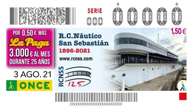 Presentación del cupón dedicado al 125º aniversario del Real Club Náutico de San Sebastián