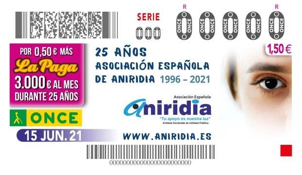 Presentación cupón 25 aniversario de la Asociación ANIRIDIA