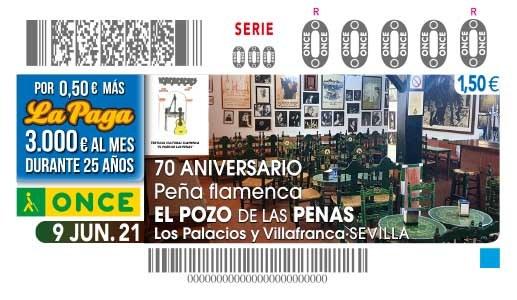 """Presentación del cupón dedicado al 70 Aniversario de la peña flamenca """"El Pozo de las Penas"""""""