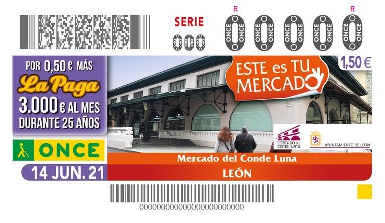 Presentación del cupón dedicado al Mercado del Conde Luna en León
