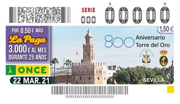 Presentación del cupón dedicado al 800 Aniversario de la Torre del Oro de Sevilla