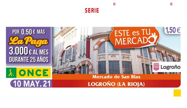 Presentación del Cupón dedicado al Mercado de San Blas de Logroño (La Rioja)