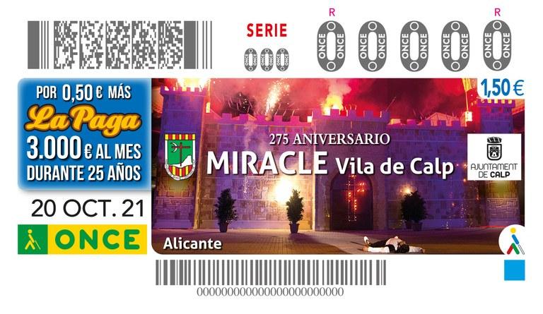 PRESENTACIÓN CUPÓN 275 ANIVERSARIO , MIRACLE, VILA DE CALP)