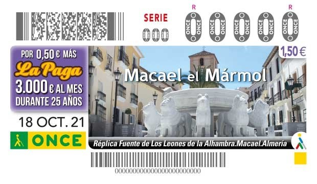 Presentación cupón ONCE dedicado al mármol de Macael