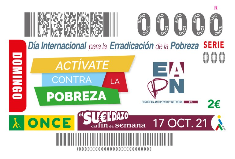 Presentación del cupón dedicado al 'Día Internacional para la erradicación de la pobreza'