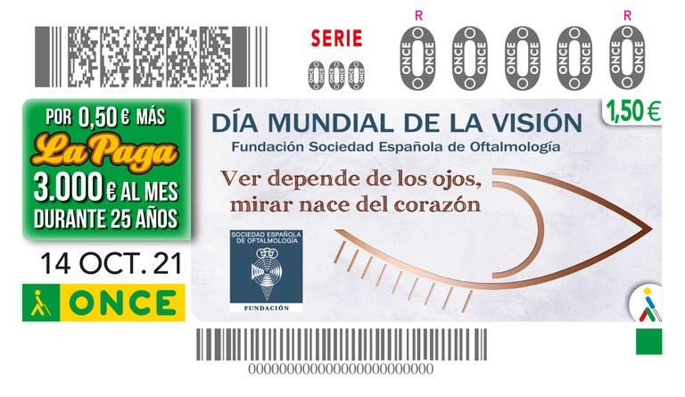 Presentación del cupón dedicado al 'Día Mundial de la Visión' en colaboración con la Fundación Sociedad Española de Oftalmología