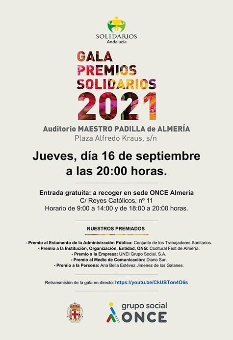 Gala de entrega de los Premios Solidarios ONCE Andalucía