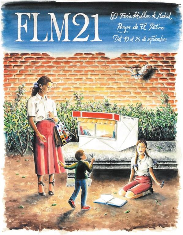 Cartel oficial de la 80º Edición de la Feria del Libro de Madrid