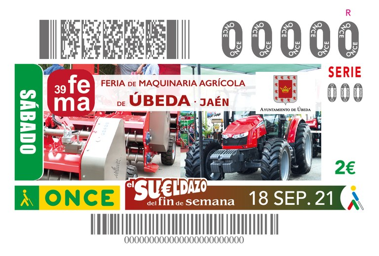 PRESENTACIÓN CUPÓN 39 FEMA - FERIA DE MAQUINARIA AGRÍCOLA DE ÚBEDA