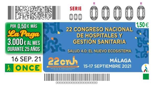 """Presentación cupón dedicado al """"22 Congreso Nacional de Hospitales y Gestión Sanitaria"""""""