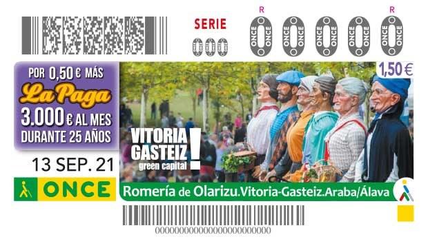 Cupón dedicado a la Romería de Olarizu de Vitoria- Gasteiz